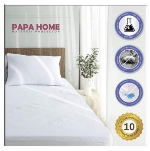 23 35 Top Waterproof Bed Cover Queen Size Fitted Sheet Plastic Mattress Protector Whit King Bed Covers Mattress Covers Mattress