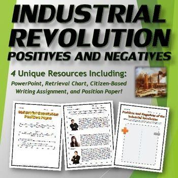 industrial revolution positives and negatives bundle ppt and industrial revolution positives and negatives bundle ppt and handouts this industrial revolution bundle