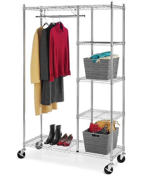 Whitmor Rolling Garment Rack With Shelves Reviews Cleaning