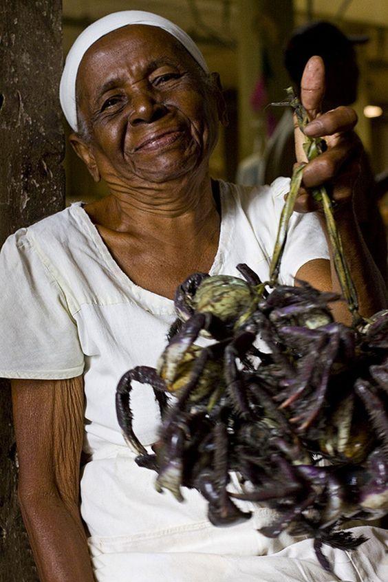 Vendedora de Caranguejo, Mercado Albano Franco, Aracaju - Sergipe