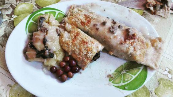 """""""#receta /#recipe  #panqueques de #acelga #spinach #pancakes  Ingredientes: Masa de panqueques, acelga, #queso /#cheese, #papas / #potatoes  Pasos: 1)Crear…"""""""