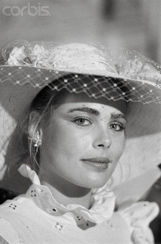 Margaux Hemingway on her wedding day, 21 June 1975: