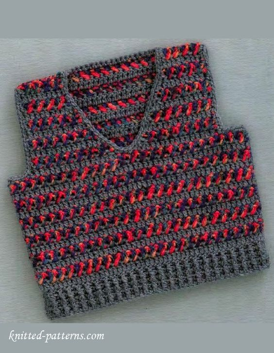 Crochet Patterns For Childrens Vests : Vests, Children and Boys on Pinterest