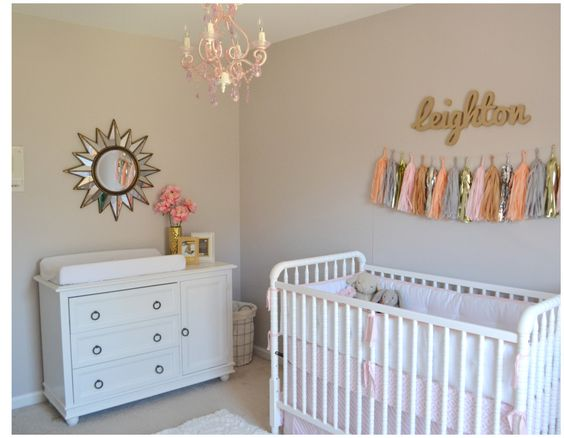 Pink, Gold and White Nursery - we love the understated elegance of this beautiful room!