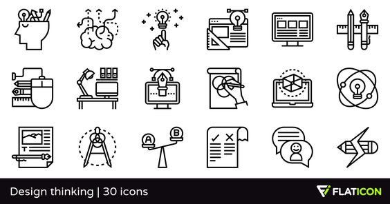 30 Free Vector Icons Of Design Thinking Designed By Eucalyp Design Thinking Free Icon Packs Design