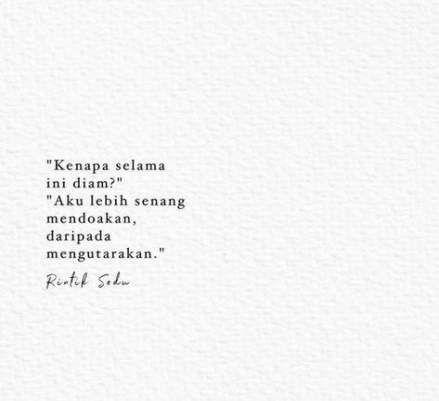 Quotes Indonesia Cinta Dalam Diam 26 Trendy Ideas Quotes Kata