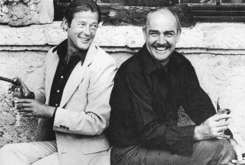 James Bonds, Sean Connery and Roger Moore