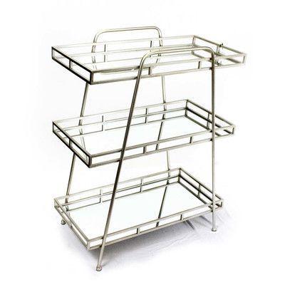 "SagebrookHome 36"" H Three Shelf Shelving Unit"