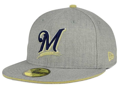 sale retailer 089e0 58e7d best price milwaukee brewers new era mlb heather team color 59fifty cap  hats nyorquina pinterest milwaukee