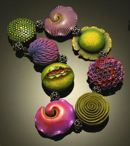 Seed Bead Neckpiece by Kathleen Dustin.: