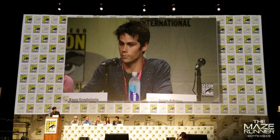 The Maze Runner panel @ San Diego Comic-Con 2014 - Dylan O'Brien (Thomas)