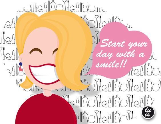 La mejor curva de las mujeres! su sonrisa  Start your day with a smile!  comienza tu dia con una sonrisa!