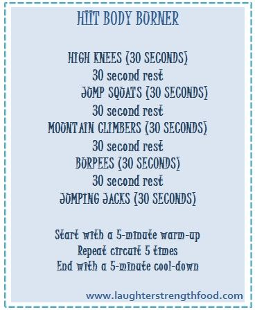 Rainy day HIIT workout