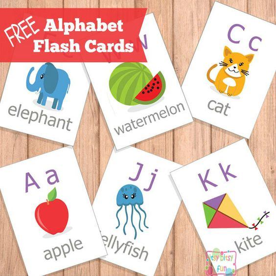 FREE Printable ABC Flash Cards | Activity books, For kids and ...
