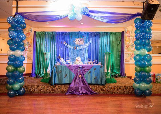 Krishna theme backdrop krishna birthday decoration for Background decoration for birthday party