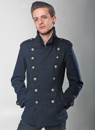 mens navy military pea coat www.phixclothing.com | Mens Style