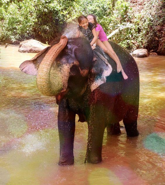 Elephant Shower by UniquePhotoArts