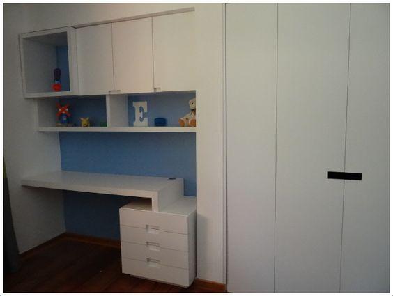 Mueble escritorio repisa y puertas enchapadas closet con - Mueble escritorio ...