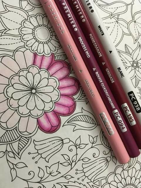 Pink Red Blend Color Pencil Art Prismacolor