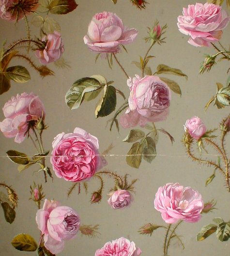 antique french wallpaper.