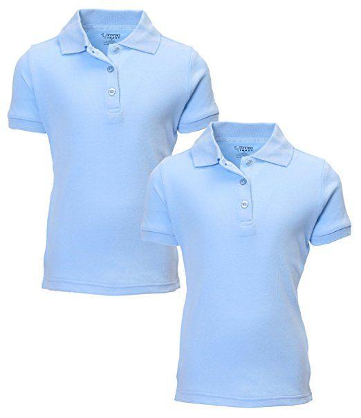 French Toast Boys/' Uniform Short Sleeve Polo 2 Pack White