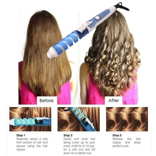 Electric Curler Roller Spiral Curling Iron Wand Curl Style Starting At 1 Long Hair Styles Hair Styles Long Face Hairstyles