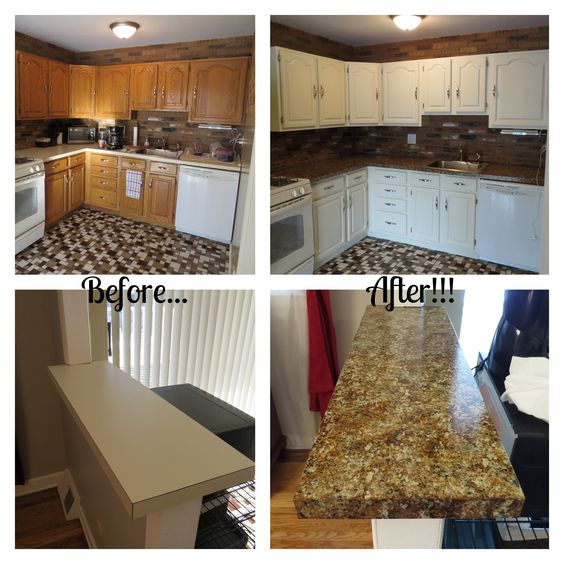 Nuvo Countertop Paint : ... makeover. She used Nuvo Coconut Espresso and Giani Chocolate Brown