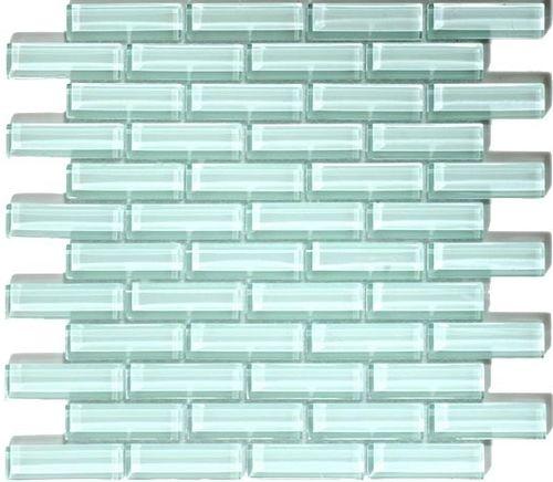 Crystile Series 1 X 3 Ice Mist Glossy Modern Glass Tile Mosaic Backsplash Glass Tile