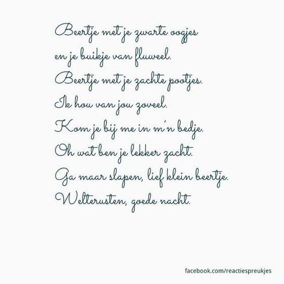 Citaten Voor Goedenacht : Welterusten goedenacht liedje slapen gedichtje lief