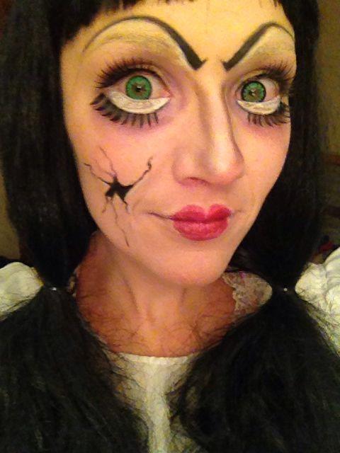 Scary china doll makeup | halloween inspiration 2014 | Pinterest ...
