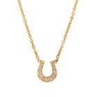 Zoe Chicco Pave Diamond Horseshoe Necklace