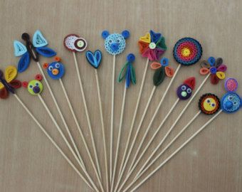 Creative Bookmarks made from quilling strips by pHDesignsArt