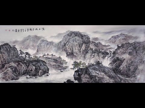 Peaceful Village In Mountain Sumi E Landscape Painting Time Lapse Video Youtube In 2020 Landscape Paintings Painting Time Lapse Video