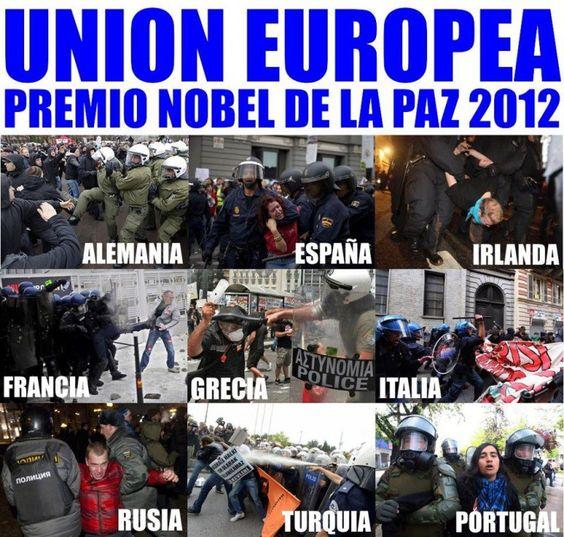 UE: Premio Nóbel de la Paz 2012