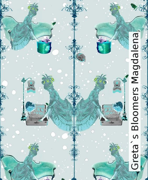 Tapete: Greta`s Bloomers Magdalena - TapetenAgentur  Selected Designtapeten von Elli Popp http://wzorywidze.pl/shop/producer/show/id/38