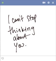I can't stop thinking about you - This is a really emotional emoticon for Facebook that all you loved up guys love to use!