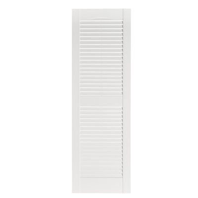 Ply Gem Louvered Shutter Color Peppercorn Size 35 H X 15 W Louvered Shutters Shutter Colors Shutters Exterior