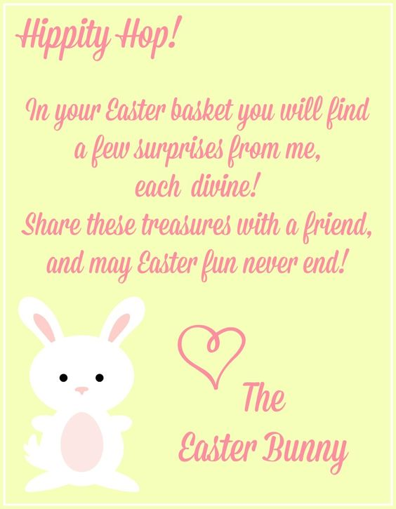 Free easter printables easter printables and easter bunny for Letter to easter bunny template