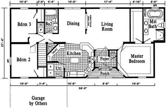 Ranch style ranch style homes and ranch house plans on for Modular homes with open floor plans