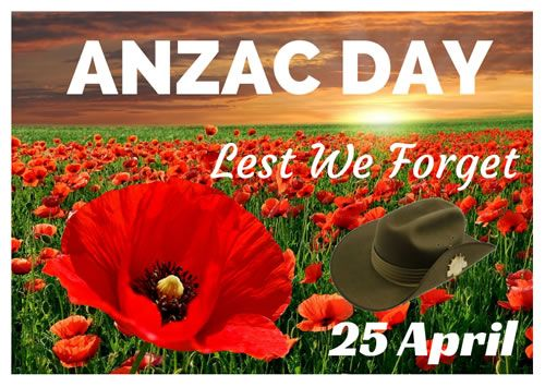 ANZAC Day Poster: ANZAC Day Poster for printing.