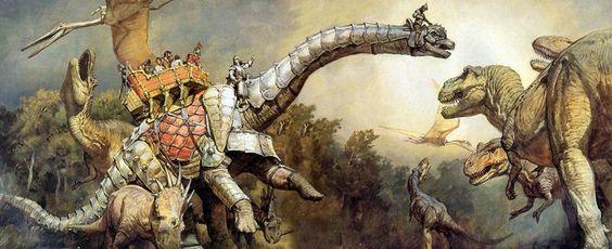 Emboscada de Tiranossauros Os Dinossauros e o Mundo Fantástico de James Gurney