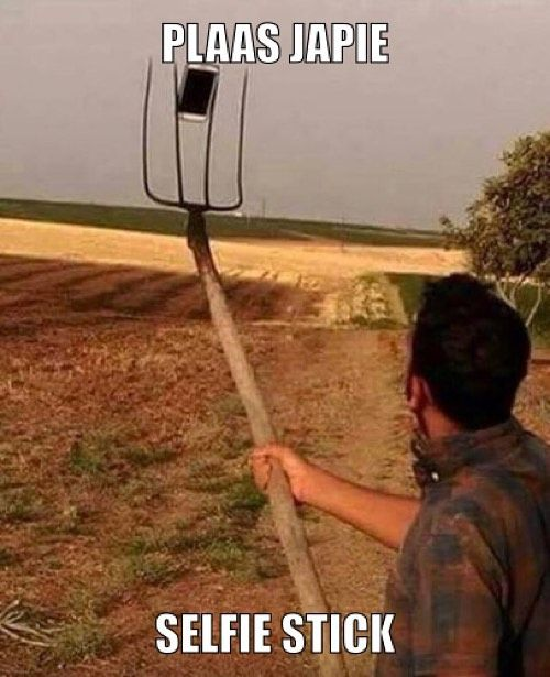 This is how us country folks takes a selfie! Lol