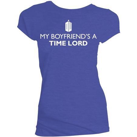 Doctor Who My Boyfriend's A Time Lord Ladies T-Shirt @ Titan Merchandise