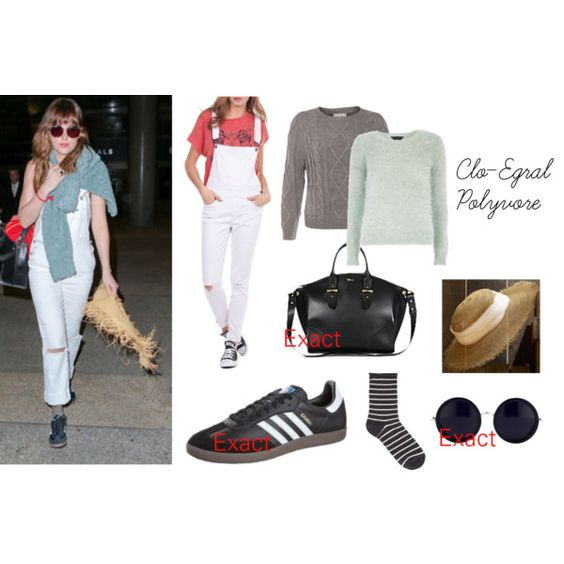 Dakota Johnson on Polyvore featuring moda, Dorothy Perkins, William Rast, Alexander McQueen, The Row and adidas Originals
