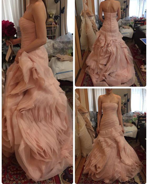white by vera wangのblush pinkに出会いました なんて美しいドレスなのー