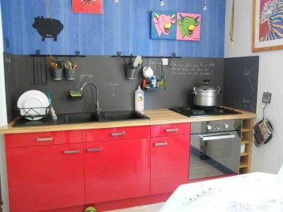 Cr dence cuisine peinture ardoise kitchen pinterest for Peinture credence cuisine