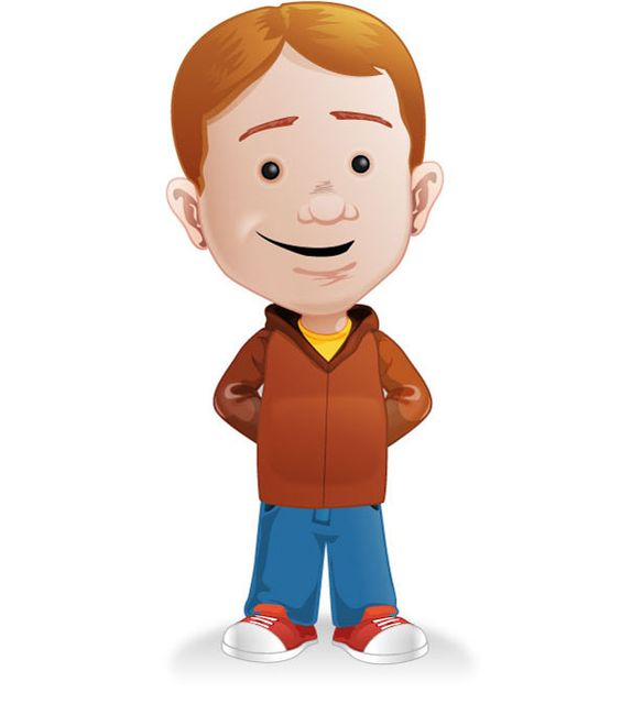 Character with Casual Clothes Free Vector | Free Vectors ...
