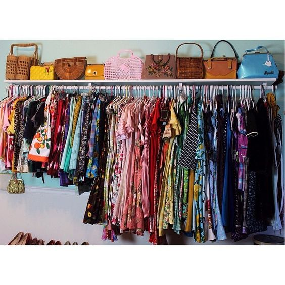 """@ameliajetson's closet is what a vintage-loving gal's dreams are made of!  Can you spot the #ModCloth pieces?  #regram #closetenvy"""