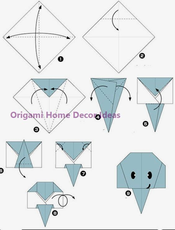 Easy Diy Origami Home Decor Ideas In 2020 Origami Elephant Origami Easy Easy Origami For Kids