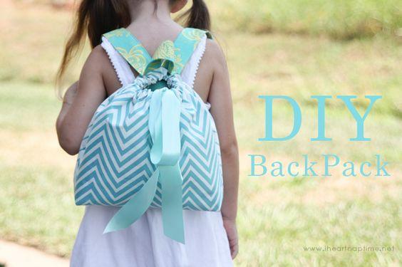 DIY-Backpack by Girl Inspired on iheartnaptime.com